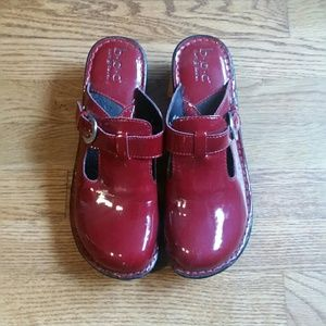 Shoes - Red Patent Clog 10